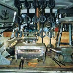 view of inside farrier's truck