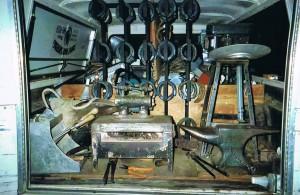 view of inside farrier's truck